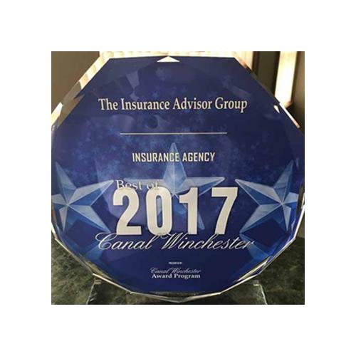 Award - 2017 Best Insurance Agency Canal